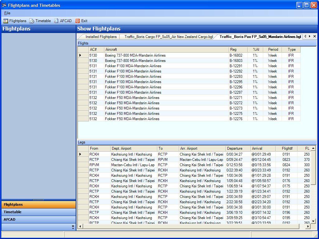 ACA2005 documentation | AI Flight Support